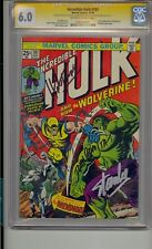 INCREDIBLE HULK #181 CGC 6.0 SS SIGNED STAN LEE TRIMPE ROMITA 1ST WOLVERINE