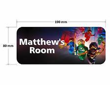 Lego Ninjago Personalised Childrens Bedroom Door Plaque Sign Boys Girls