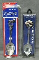 Collectable Souvenir Spoons Lot Of 2 Missouri W/Mule & Las Vegas W/Cards NEW