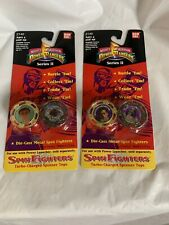 Mighty Morphin Power Rangers Series II Spin Fighters Turbo  Charge Spinner Tops