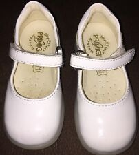 PRIMIGI Girls White Mary Janes Dress Shoes EU 21 US Size 4.5 Patent Leather EUC