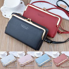 Lady Mobile Phone Bag PU Leather Crossbody Purse Wallet Shoulder Pouch Bag Gift