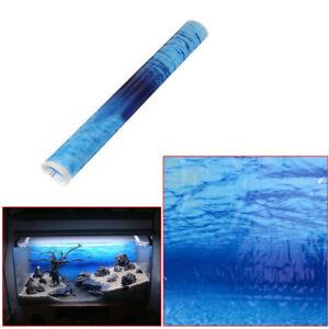 Blue Color Sea Ocean Fish Tank Aquarium Background Seascape Poster Wall Decor JH