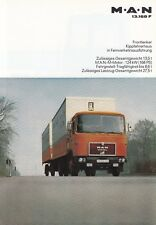 MAN M.A.N 13.168 F LKW Nutzfahrzeug Prospekt Brochure 1978 /63