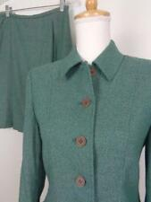 Pendleton Green Wool Blend Skirt Suit Womens sz 6P Blazer 10P Skirt 27W NWT
