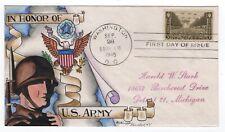 #934 U.S. Army - Dorothy Knapp Hand Painted 1945 FDC