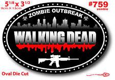 Sticker Walking Dead Zombie Weapon Gun Caution Danger Car Truck Laptop Wall 759