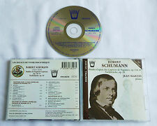 SCHUMANN Studies Paganini caprices Op.3 & 10/.. Jean MARTIN Signed CD ARION(1993