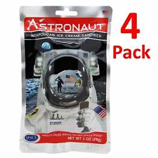 4 Neapolitan Ice Cream Sandwich Astronaut Freeze Dried Space Food Novelty Set