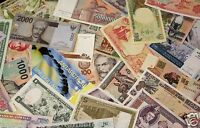 HUGE WORLD FOREIGN CURRENCY BANKNOTE UNSEARCHED BLOWOUT (SOLD IN LOTS OF 30)