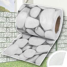 Garden fence screening privacy shade 35m roll panel cover mesh foil cobblestone