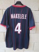 Maillot PARIS PSG 2010 NIKE MAKELELE n°4 football shirt maglia camiseta trikot