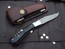 "DKC-781 SONOMA Laguiole Damascus Steel Folding Pocket Knife Black Bone 3 oz 7.5"""