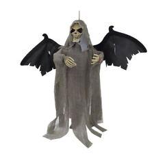 Halloween Appeso Fantasma Pipistrello Teschio Light & Sound Oggetti Di Scena Decorazione Festa Grigio