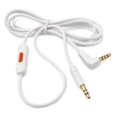 White Audio Cable for Beats Dre Studio Headphones 2.0 w/ RemoteTalk Replacement