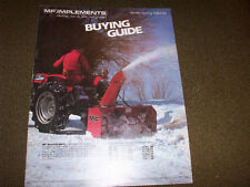1984-85 Winter Spring Massey-Ferguson Implement Buying Guide Swathers Windrowers
