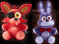 2pcs FNAF Five Nights at Freddy's Sanshee Bonnie Rabbit & FOXY Plush Toys Dolls