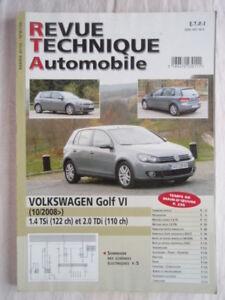 Revue Technique pour VOLKSWAGEN GOLF VI 1.4 TSi et 2.0 TDi depuis 10/2008