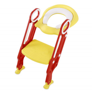 Potty Training Seat with Step Stool Ladder, Toddler Toilet Training Seat Chair