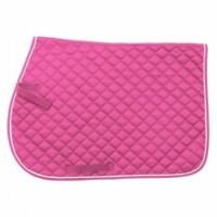 EquiRoyal Pink Quilted Cotton Comfort Square English Saddle Pad Horse Tack
