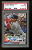 2018 Topps Holiday #67 Rafael Devers Boston Red Sox RC Rookie PSA 10 GEM MINT!