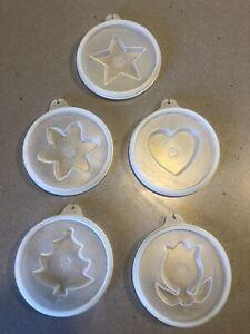 Tupperware Jello Mold Lids, Heart, Star, Xmas Tree, Tulip...
