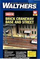 HO Scale Walthers Cornerstone 933-4097 Brick Craneway Base & Street 3-Pack Kit