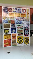 G LGB 1:24 Scale Vintage Garage Adverts Notices Signs Railway Layout Diorama