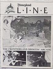 RARE APRIL 1985 DISNEYLAND LINE CAST NEWSLETTER FRONTIERLAND SHOOTIN' ARCADE