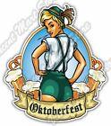"Oktoberfest Girl Beer Festival Bavaria Gift Car Bumper Vinyl Sticker Decal 4""X5"""