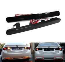 2x Black Smoked Bumper Reflector LED Tail Stop Brake Light For 2009-14 Acura TSX