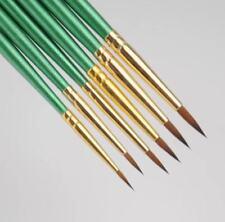 XDT#300 6Pc Round Tip Miniature Paint Brush Nylon Fine Detail Art Nail Model