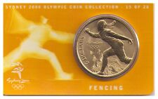 2000 $5 RAM UNC Coin Sydney Olympic Coin - NO OUTER COVER - 15 of 28 - Fencing
