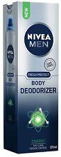 Nivea Men Fresh Protect Body Deodorizer Energy, 120 ml LONG EXPIRY FREE SHIP