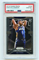 ZION WILLIAMSON RC 2019-20 PANINI PRIZM ROOKIE CARD #248 PSA 10 PELICANS GEM MT