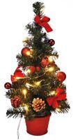 LED Weihnachtsbaum künstlicher Tannenbaum Christbaum Tanne beleuchtet 45 cm Rot