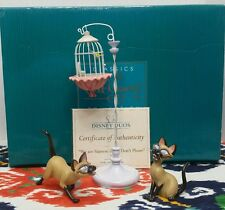 WDCC Disney Duos Lady and the Tramp Si & Am We are Siamese & Birdcage W/ Box/COA