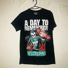 Retro Black A Day To Remember Punk Skate Small Size Top T Shirt