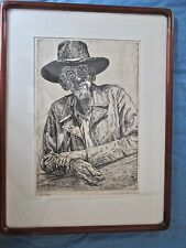 "Professionally Framed and Matted Dan Miller Etching of ""Dixon"""
