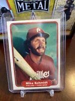 Mike Schmidt 1982 FLEER Baseball Card 258