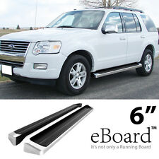 "eBoard Running Boards Aluminum 6"" For 2006-2010 Ford Explorer 06-10 Mountaineer"