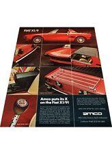 1974 Fiat X19 X1/9 Amco Accessories - Vintage Advertisement Car Print Ad J397