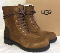UGG Women's Kilmer Chestnut Lace Up Dressy Military 1017485 Leather Suede size