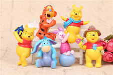 Winnie the Pooh MIni Figurine Action Figure New Collectible 6PCS Cute Toy