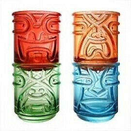 Final Touch: TIKI Stacking Glasses set of 4 coloured