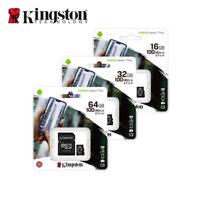 NEW Kingston 16GB 32GB 64GB Canvas Select Plus MicroSDHC SDXC Card A1 C10 UHS-I