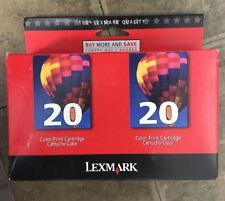New Genuine LEXMARK 20 Color Twin Pack Printer Cartridges