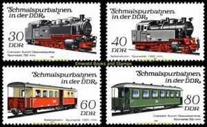 EBS East Germany DDR 1984 - Narrow Gauge Railways (IV) - Michel 2864-2867 MNH**