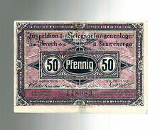 WW 1 Prisoner of War POW Camp Germany Currency 50 PFenning  Lagergeld