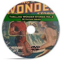 Thrilling Wonder Stories, Vol 2, 39 Classic Pulp Magazine, Fiction DVD CD C60